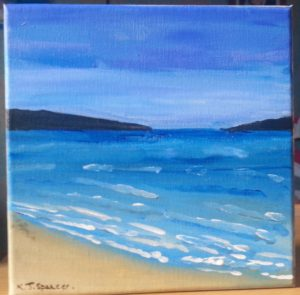 Vivid blue seas by Kara Jane Spencer