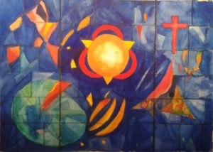 Design for stained glass window. by john Budden