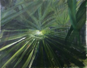 The palms in the garden by john Budden
