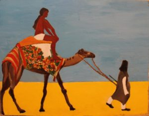 Camel in the Desert by Josie