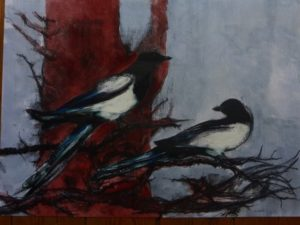 Magpies in Winter by Mike West