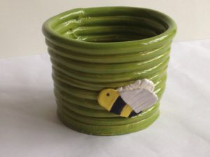 Bee Coil Pot by Butterfly Productions