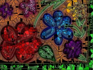 Stained glass flowers by Kay