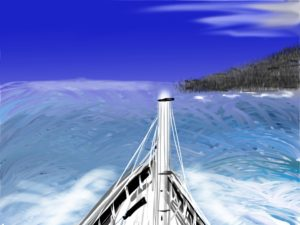 Traveling out to sea by Kay