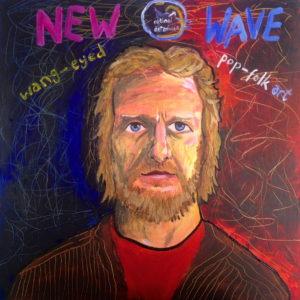 New Wave Wang-Eyed Pop Folk Art by Tim Bradford