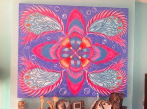 Abstract pattern form by Rachel scott