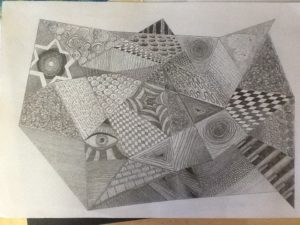 Pencil doodle by Nicola Foley