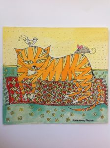 Cat on Carpet by Rosemary Seaton