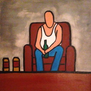 Man in a chair by Darryn Michael