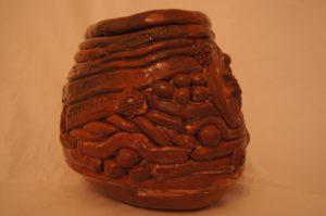 Coil pots by Pamela