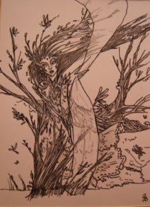 Wind fairy by Pamela