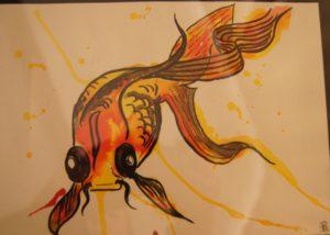My goldfish by Pamela