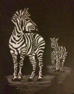 Grandma and Granddaughter Zebra by Bristol Balloons