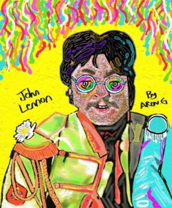 John Lennon Sgt. Peppers lonely hearts club band by Azzaartist