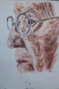 Portrait of an elderly lady by Flozza