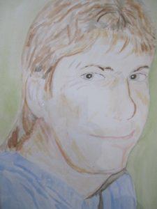 Portrait of David Clapson by Joy Turner