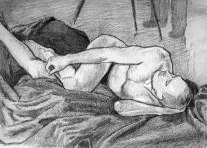Life Drawing by J.Sharp