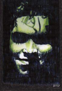 Self Portrait Green by J.Sharp