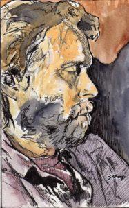 Life Drawing Man Asleep by J.Sharp