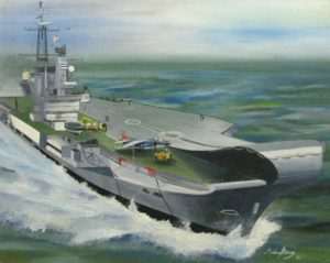 HMS Hermes by Michael George