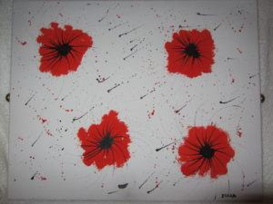 Poppies in the rain by J. Holmes
