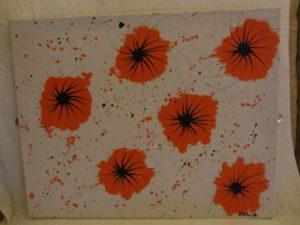 Flowers in Orange by J. Holmes
