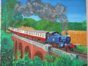 Steam Train by Ivy and Boards