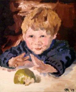 Boy With Half-Eaten Apple by Sam Richardson