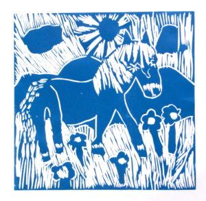 Horse in the Wild Meadow by Rachel Summers