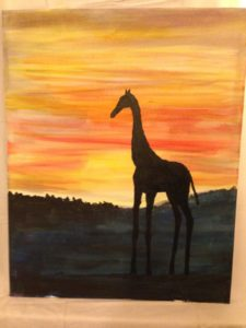 Giraffe out of Africa by Sue Patch