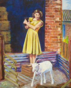Margaret and the goat by James Trueman