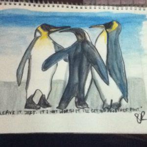Penguin Pub Fight by Sam Randall