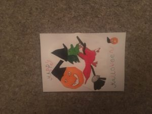 Halloween card by holly murray