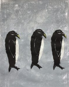 Penguin trio by Arty