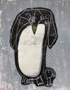 Penguin with baby by Kirsty
