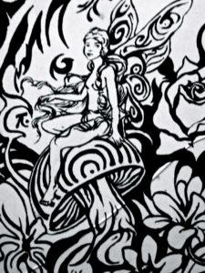 Mushroom fairy by Andrew Saggers
