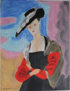 Lady in Black and Red by Hilary Forrester