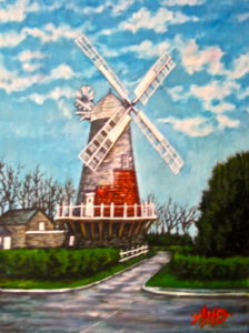 Windmill at the top of the street by Andrew Saggers