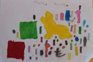 Sammy and two Pink Panthers by Mary Allen