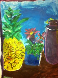 Pineapple still life by James Duncan