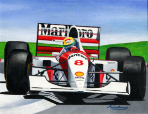 Ayrton Senna by Michael George