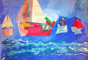 Sailboats by Cori King