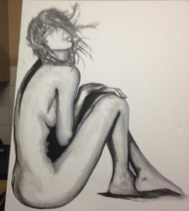female nude by Malcolm Darling