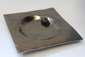 Metallic Rose Plate by Butterfly Productions