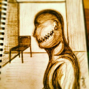 waiting room sketch by christopher wright