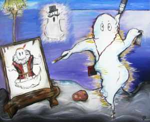 A ghost paints himself as his ancestors by Jasmine Surreal