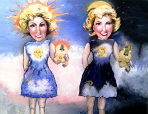 Doris Day and Doris Night by Jasmine Surreal