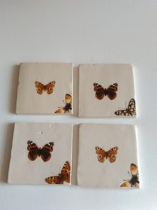 Butterfly costers set of 4 by Gary Raven