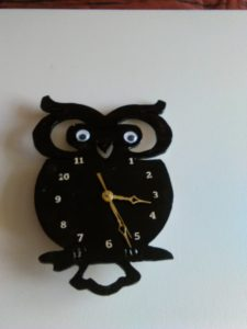 Owl clock by Gary Raven