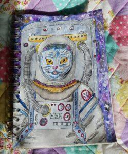 Kitty astronaut by isolatedpoptart